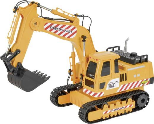 Carson RC Sport Raupenbagger 1:20 RC Einsteiger Funktionsmodell Baufahrzeug inkl. Akku, Ladegerät und Senderbatterien