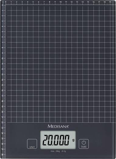 Küchenwaage digital Medisana KS 240 Wägebereich (max.)=20 kg Schwarz