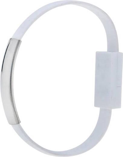 USB 2.0 Kabel [1x USB 2.0 Stecker A - 1x USB 2.0 Stecker Micro-B] 0.23 m Weiß vergoldete Steckkontakte Akyga