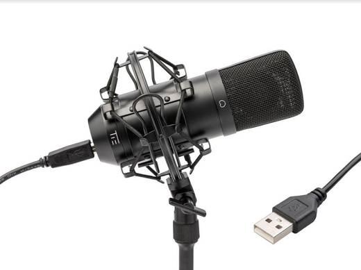 USB-Studiomikrofon Tie Studio Condenser Mic SW Kabelgebunden inkl Spinne, inkl. Kabel