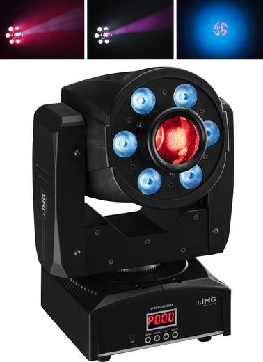 LED-Moving Head IMG STAGELINE SPOTWASH-3048 Anzahl LEDs:6 x 8 W