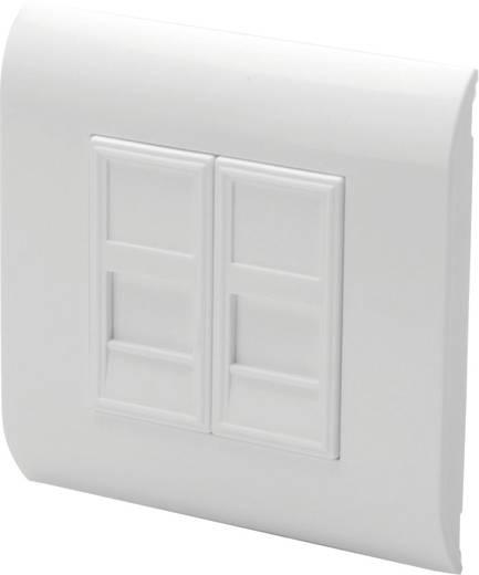 Keystone-Halterung 2-fach Digitus Professional DN-93802 Weiß