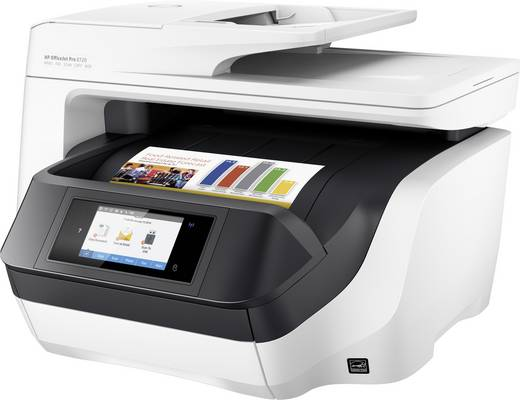 HP OfficeJet Pro 8720 e-All-in-One Tintenstrahl-Multifunktionsdrucker A4 Drucker, Fax, Kopierer, Scanner LAN, WLAN, Dupl