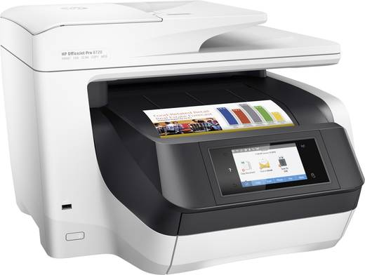 HP OfficeJet Pro 8720 All-in-One Tintenstrahl-Multifunktionsdrucker A4 Drucker, Scanner, Kopierer, Fax LAN, WLAN, Duplex