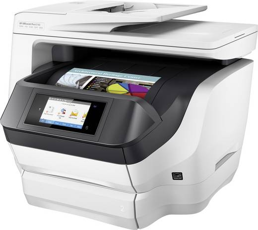 hp officejet pro 8740 all in one tintenstrahl multifunktionsdrucker a4 drucker scanner. Black Bedroom Furniture Sets. Home Design Ideas