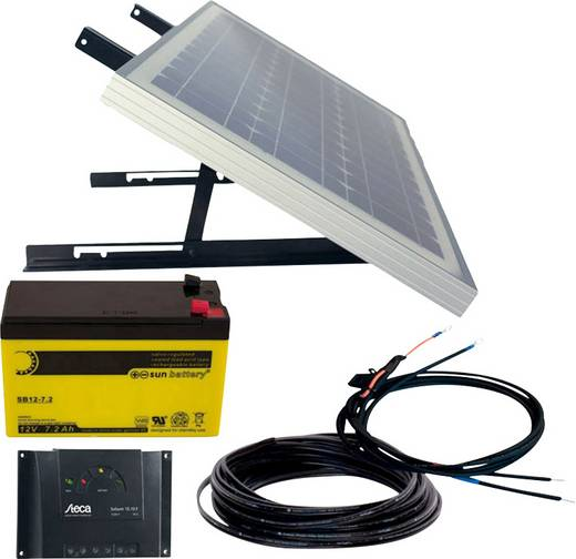Energy Generation Kit Solar Rise Nine 1.0 Phaesun 600299 Solaranlage 10 Wp inkl. Akku, inkl. Anschlusskabel, inkl. Lader