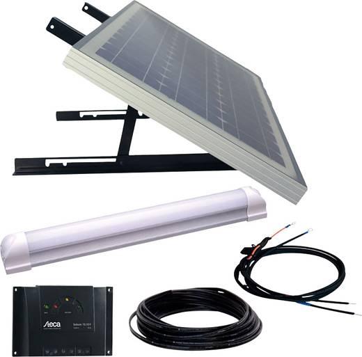 SUPER ILLU ONE Phaesun 600300 Solaranlage 30 Wp inkl. Anschlusskabel, inkl. Laderegler, mit LED Leuchte