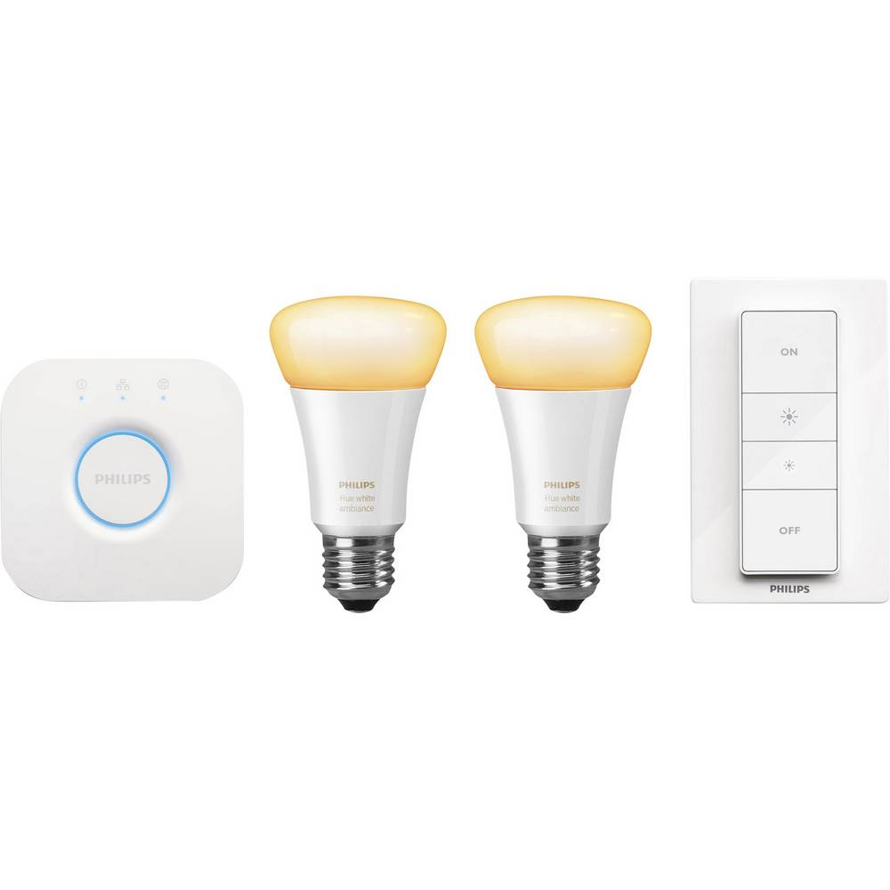 philips lighting hue starter kit white ambiance e27 from. Black Bedroom Furniture Sets. Home Design Ideas