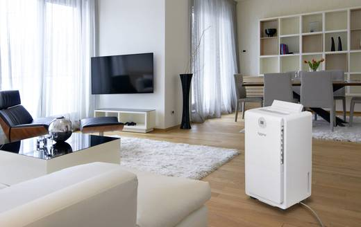 Sygonix Luftentfeuchter 44 m² 410 W 0.96 l/h Weiß