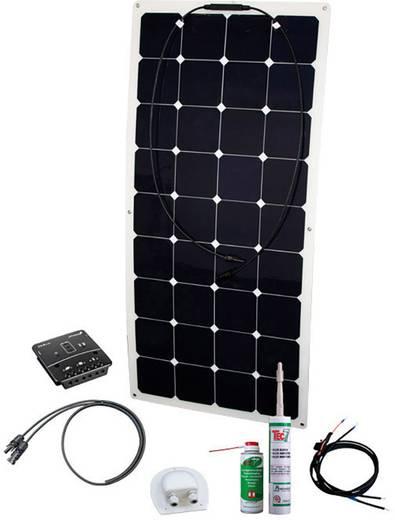 Solar-Set Energy Kit Flex Rise Two Phaesun 600262 100 W inkl. Laderegler, inkl. Anschlusskabel, geeignet für Wohnmobil u
