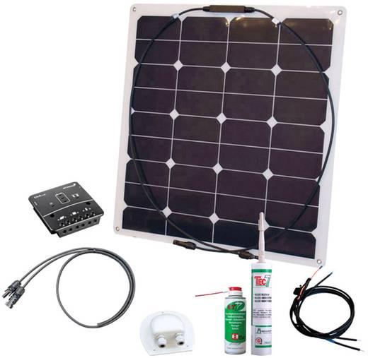 Energy Kit Flex Rise Three Phaesun 600292 Solar-Set 50 Wp inkl. Anschlusskabel, inkl. Laderegler, geeignet für Wohnmobil
