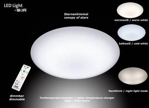 LED-Deckenleuchte 34 W RGBW WOFI Ceres 9545.01.06.0000 Weiß