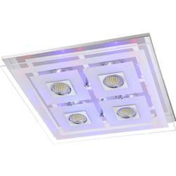 Image of ACTION 940605010000 Zoe Deckenleuchte LED GU10, LED fest eingebaut 13.98 W Chrom (glänzend), Glas satiniert