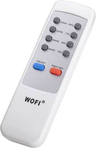 LED-Deckenleuchte 40 W Warm-Weiß WOFI 9350.01.64.0400 Nickel (matt)