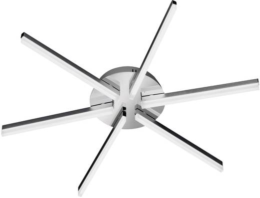 LED-Deckenleuchte 24 W Warm-Weiß WOFI Horton 9786.06.54.0000 Nickel (matt), Chrom