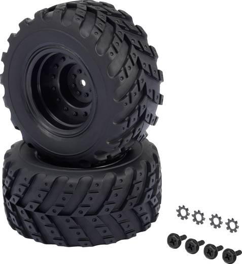 Reely 1:10 XS Monstertruck Kompletträder V-Block Hotlander Schwarz 2 St.