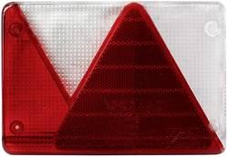 Image of Ersatzglas Blinker, Bremslicht, Kennzeichenleuchte, Reflektor, Rückleuchte, Rückfahrscheinwerfer hinten, rechts LAS