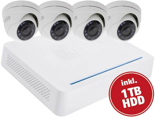 ABUS HD-TVI Videoüberwachungs-Set 8-Kanal mit 4 Kameras 1 TB TVVR33418