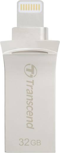 USB-Zusatzspeicher Smartphone/Tablet Transcend JetDrive™ Go 500 Silber 32 GB USB 3.1, Lightning