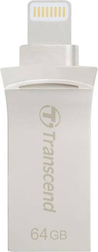 USB-Zusatzspeicher Smartphone/Tablet Transcend JetDrive™ Go 500 Silber 64 GB USB 3.1, Lightning