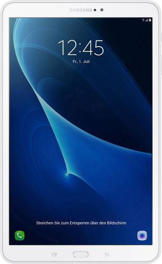 Samsung Galaxy Tab A 10.1 2016 Android-Tablet 25.7 cm (10.1 Zoll) 32 GB Wi-Fi Weiß 1.6 GHz Octa Core Android™ 6.0 Marshm