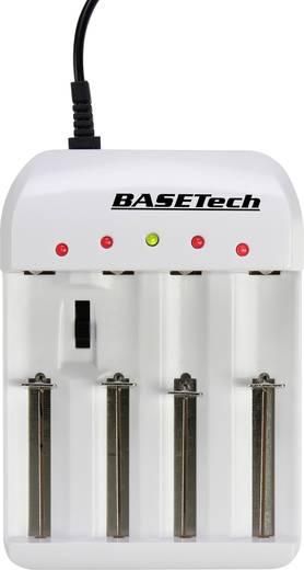 Rundzellen-Ladegerät NiCd, NiMH, NiZn, LiIon, LiFePO Basetech BTL-4.1 Micro (AAA), Mignon (AA), Baby (C), 18650