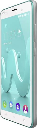 WIKO Jerry Smartphone 12.7 cm (5 Zoll) 1.3 GHz Quad Core 16 GB 5 Mio. Pixel Android™ 6.0 Marshmallow Türkis-Silber