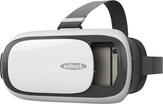ednet 87000 Weiß, Silber, Schwarz Virtual Reality Brille inkl. Controller