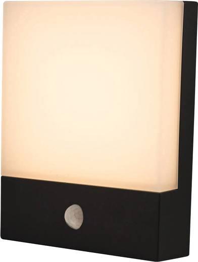 LED-Außenwandleuchte mit Bewegungsmelder 8 W Warm-Weiß Heitronic Entrada 35378 Graphit