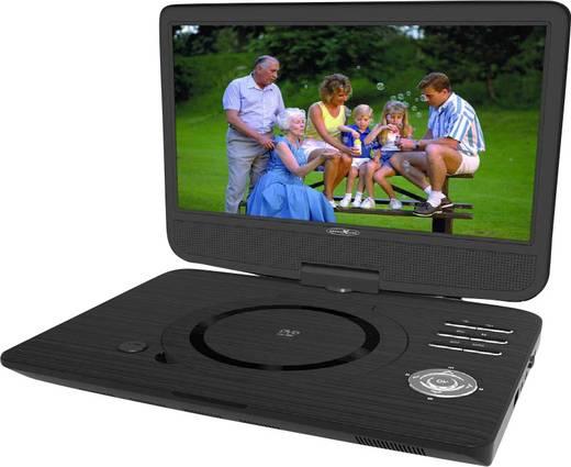 Tragbarer DVD-Player 25.4 cm 10 Zoll Reflexion DVD1004 Akkubetrieb, mit integriertem DVD Player, inkl. 12 V Kfz-Anschlus