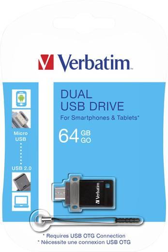USB-Zusatzspeicher Smartphone/Tablet Verbatim Dual Drive 64 GB USB 2.0, Micro USB 2.0