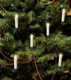 LED bezdrátové osvětlení na vánoční stromeček Polarlite svíčka, vnitřní PL-8388735, na baterii, teplá bílá, 9.5 mm, 10 ks