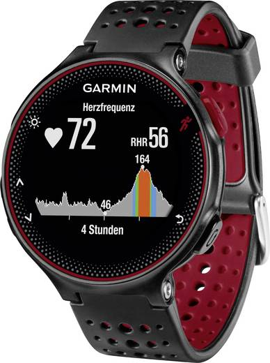 Smartwatch Garmin Forerunner 235 WHR Marsalia Schwarz, Weinrot