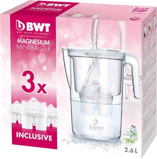Wasserfilter BWT VIDA+3MG2+ Tischwasserfilter Magnesium Mineralizer 2.6 l Transparent, Weiß