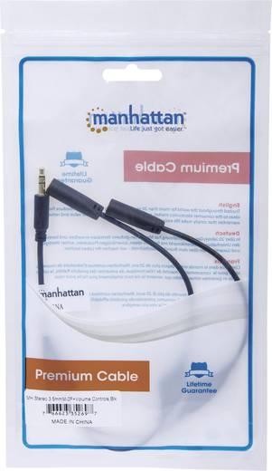 Klinke Audio Y-Kabel [2x Klinkenbuchse 3.5 mm - 1x Klinkenstecker 3.5 mm] 0.30 m Schwarz Rund Manhattan