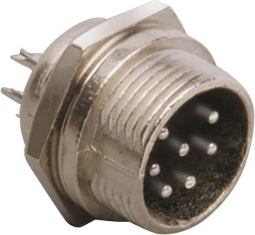 Miniatur-DIN-Rundsteckverbinder Stecker, Einbau vertikal Polzahl: 4 Silber BKL Electronic 0206013 1 St.