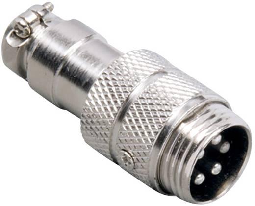Miniatur-DIN-Rundsteckverbinder Stecker, gerade Polzahl: 8 Silber BKL Electronic 0206005 1 St.