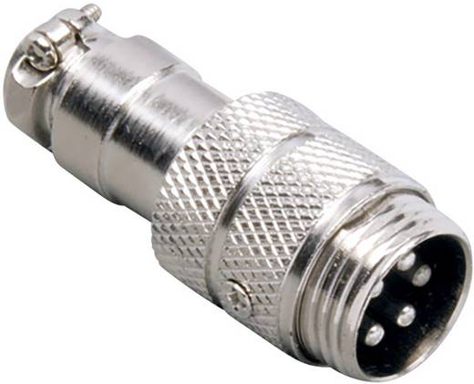 Miniatur-DIN-Rundsteckverbinder Stecker, gerade Polzahl: 4 Silber BKL Electronic 0206001 1 St.
