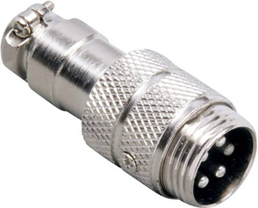 Miniatur-DIN-Rundsteckverbinder Stecker, gerade Polzahl: 6 Silber BKL Electronic 0206003 1 St.
