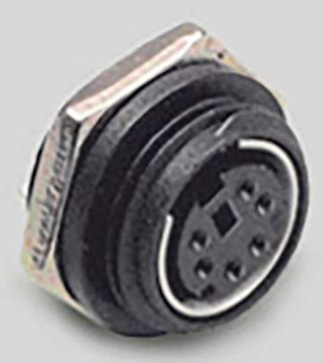 Miniatur-DIN-Rundsteckverbinder Buchse, Einbau vertikal Polzahl: 6 Schwarz BKL Electronic 0204037 1 St.