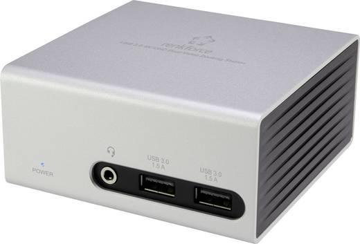 Renkforce Notebook Dockingstation DU3900 (4x USB 3.0, 1x DVI, 1x HDMI, 1x LAN (10/100/1000 MBit/s), 3,5 mm Klinke)