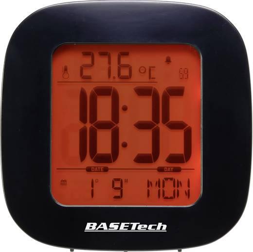 Basetech E0126R Funk Wecker Schwarz Alarmzeiten 1