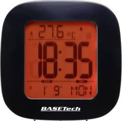 Image of Basetech E0126R Funk Wecker Schwarz Alarmzeiten 1