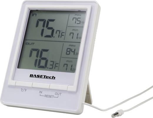 Kabelgebundenes Thermometer Basetech Weiß