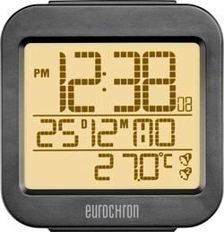 DCF budík Eurochron časů buzení 2, antracitová