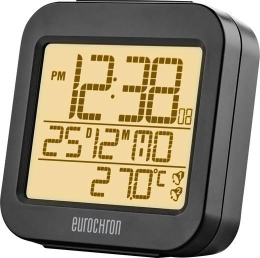 Eurochron RC130 Funk Wecker Anthrazit Alarmzeiten 2