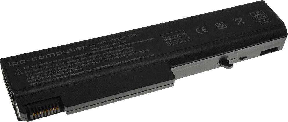 Akumulátor do notebooku ipc-computer A65000 11.1 V 5200 mAh, Náhrada za originální akumulátorKU531AA, 458640-542, 458640-543, 46