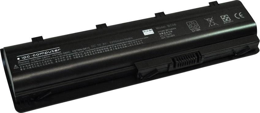 Akumulátor do notebooku ipc-computer A0CQ62 10.8 V 5200 mAh, Náhrada za originální akumulátor586006-321, 586006-361, 586006-541,