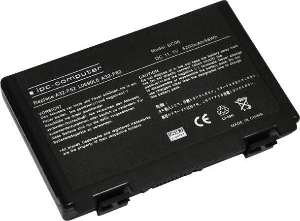 Akumulátor do notebooku ipc-computer A32F52 11.1 V 5200 mAh, Náhrada za originální akumulátor07G016761875M, 07G016AP1875, 0b20-0