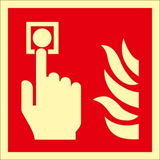 Brandschutzschild Folie selbstklebend (B x H) 200 mm x 200 mm 1 St.